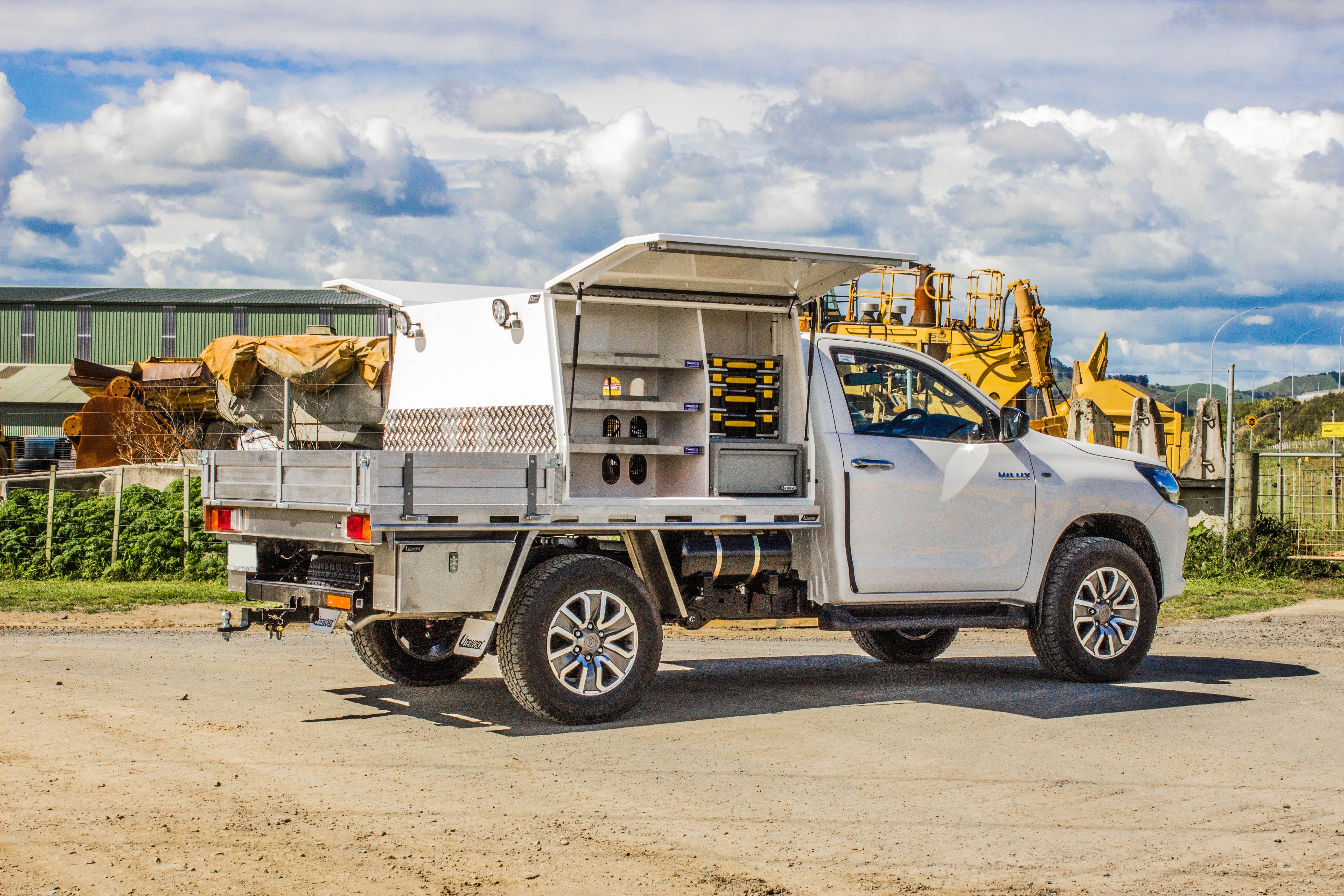 Toyota Hilux Fitouts - Flat Deck + Service Body Fitout